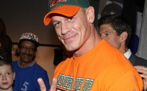 WWE superstar wrestler John Cena attends the Make-A-Wish celebration event for John Cena's 500th Wish Granting Milestone at Dave & Buster's Time Square on August 21, 2015 in New York City.