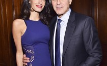 Barrister Amal Clooney and actor George Clooney attend The 100 LIVES initiative, to express gratitude to the individuals and institutions whose heroic actions saved Armenian lives during the Genocide