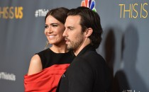 Actors Mandy Moore and Milo Ventimiglia attend a screening of the season finale of NBC's 'This Is Us' at The Directors Guild Of America on March 14, 2017 in Los Angeles, California.