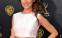 Actress Elizabeth Hendrickson attends The 42nd Annual Daytime Emmy Awards at Warner Bros. Studios on April 26, 2015 in Burbank, California.