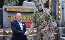 In this handout photo provided by Disney Resorts, Chairman of Walt Disney Parks and Resorts Bob Chapek attends the grand opening of Guardians of The Galaxy - Mission: BREAKOUT! attraction on May 25, 2017 at Disneys California Adventure in Disneyland in An