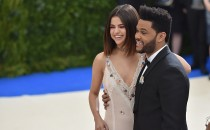 Selena Gomez (L) and The Weeknd attend the 'Rei Kawakubo/Comme des Garcons: Art Of The In-Between' Costume Institute Gala at Metropolitan Museum of Art on May 1, 2017 in New York City.