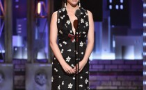 Anna Kendrick speaks onstage during the 2017 Tony Awards at Radio City Music Hall on June 11, 2017 in New York City.