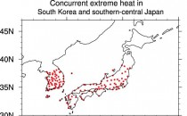 Extreme Heat over South Korea and Japan (IMAGE)