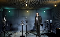 Klaus Genuit Photographed in An Anechoic Chamber (IMAGE)