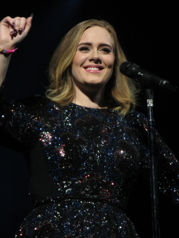 Adele in Glasgow, 2016.