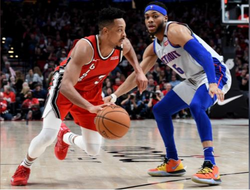 Trail Blazers win against Pistons