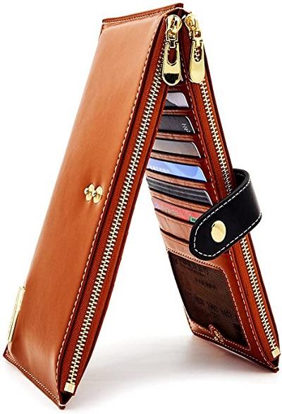 ANDOILT Women's Genuine Leather Wallet