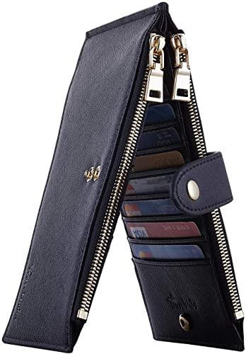 Travelambo Women's RFID-Blocking Bi-Fold Case Wallet