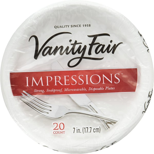 Vanity Fair Impressions Disposable Dessert Plates