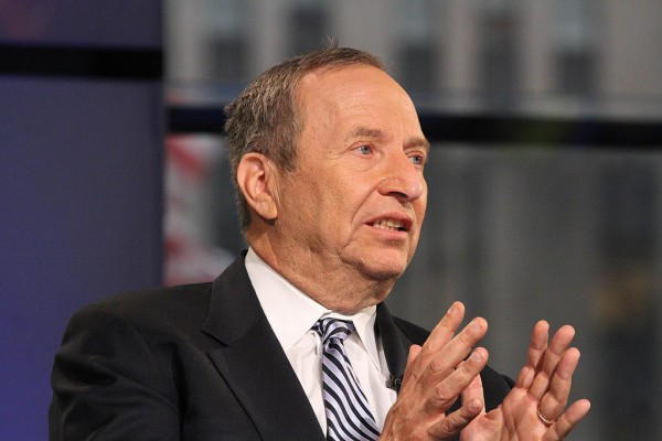 Former Treasury Secretary Larry Summers Visits FOX Business Network