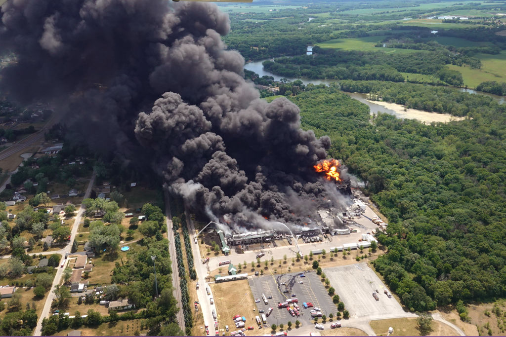 Massive Illinois Chemical Plant Explosion Prompts Authorities to Order Evacuation; Causes Environmental Nightmare