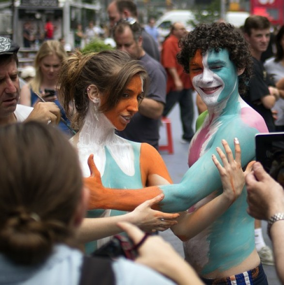 Topless marchers rally in New York to get things off chest