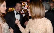 Actors Angelina Jolie, Brad Pitt and Sarah Paulson