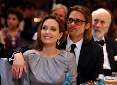 Angelina Jolie and Brad Pitt attend the Cinema for Peace Gala ceremony at the Konzerthaus Am Gendarmenmarkt during day five of the 62nd Berlin International Film Festival on February 13, 2012.
