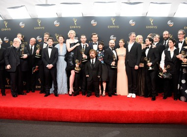 Cast & crew of 'Game of Thrones', winners of Best Drama Series, pose in the press room during the 68th Annual Primetime Emmy Awards at Microsoft Theater on September 18, 2016 in Los Angeles.