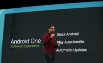 Sundar Pichai, Senior Vice President, Android, Chrome & Apps speaks on stage during the Google I/O Developers Conference at Moscone Center on June 25, 2014 in San Francisco, California.