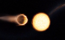 Hubble Telescope discovers planet with glowing water atmosphere