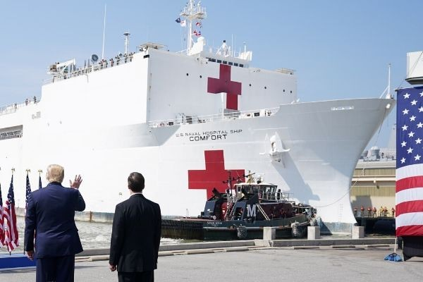 USNS Comfort: The Hospital Ship of Hope Arrives in New York Amidst the Ravaging COVID-19 Pandemic