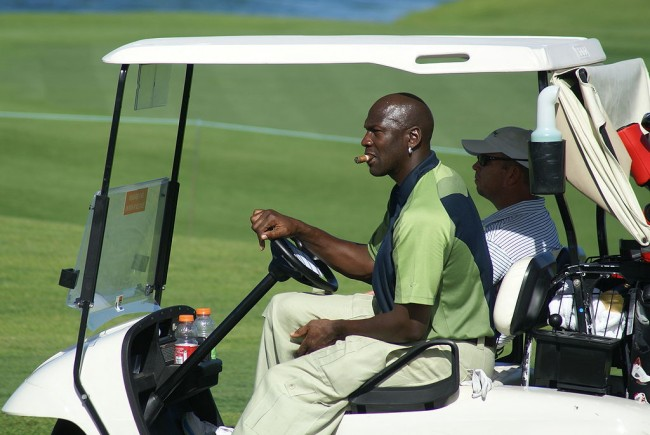 Jordan on a golf course in 2007