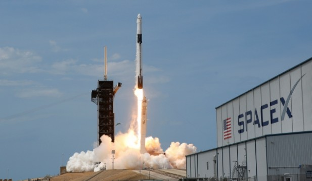 SpaceX launches a Falcon 9 spacecraft carrying two NASA astronauts