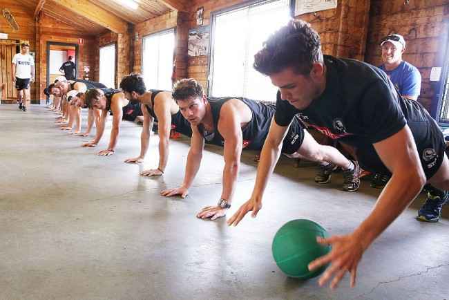 Collingwood Magpies Fitness Camp