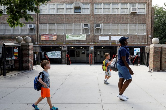 New York Public School 321 is seen closed in the Park Slope neighbourhood in Brooklyn, New York
