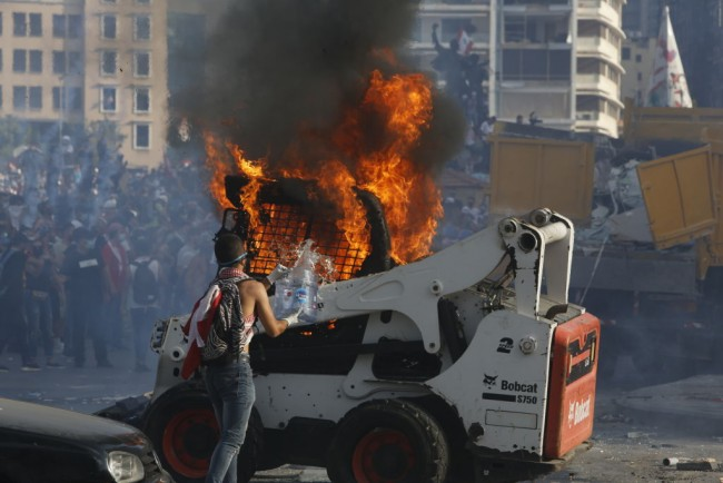 Beirut's Anti-Government Protests Reignited By Port Explosion