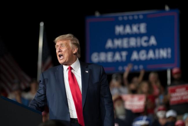 Donald Trump Campaigns In Winston Salem, North Carolina
