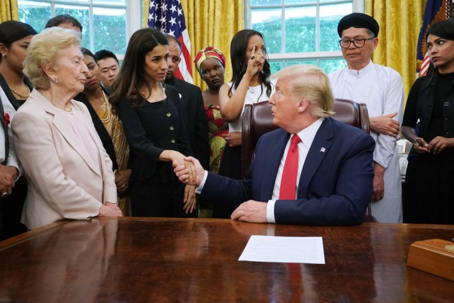 President Donald Trump Meets With Survivors Of Religious Persecution From 17 Countries