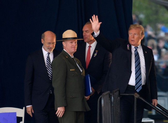 President Trump Speaks At The Flight 93 National Memorial During The September 11th Remembrance Ceremony