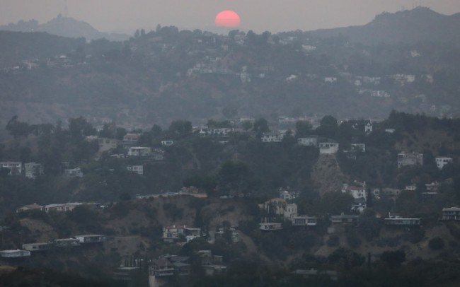 Los Angeles Air Thick With Smoke From California Wildfires