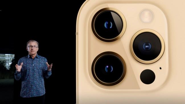 "Apple's senior vice president of Worldwide Marketing Greg ""Joz"" Joswiak unveils the all-new iPhone 12 Pro in Cupertino"