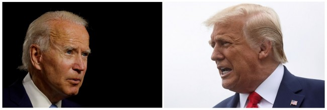 FILE PHOTO: A combination photo shows democratic presidential candidate and former Vice President Joe Biden and U.S. President Donald Trump