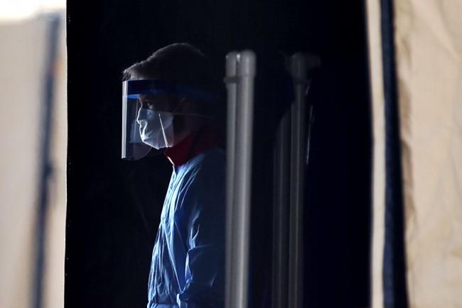 Coronavirus Testing Site Set Up At FedEx Field In Landover, Maryland
