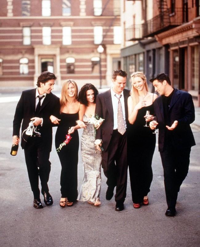 The Cast Of Friends 1999 2000 Season From L R: David Schwimmer Jennifer Aniston Courteney Cox