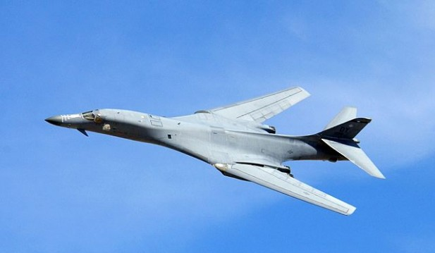 US Air Force Displays Cruise Missile fired by B-1 Bomber That Pounded Isis