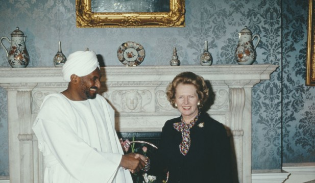 Margaret Thatcher And Sadiq al-Mahdi