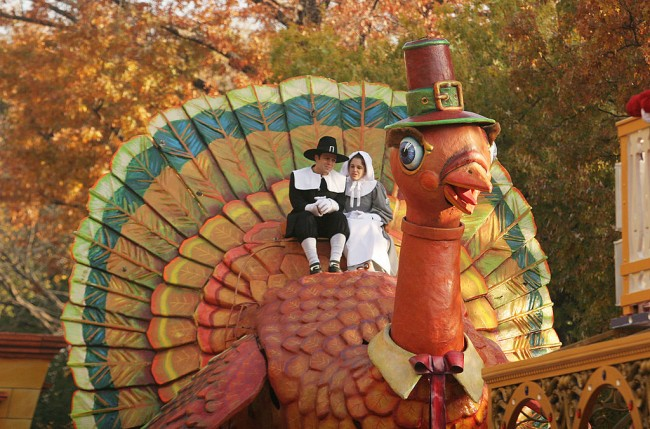 Crowds Gather For Macy's Annual Thanksgiving Day Parade