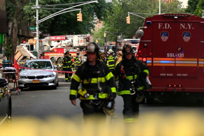 Section Of Building Collapses In Brooklyn