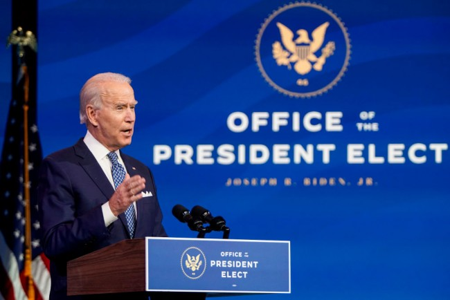 President-Elect Biden Delivers Remarks In Wilmington, Delaware Prior To Holiday Break