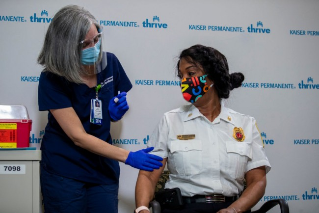 Washington, DC Firefighters Receive COVID-19 Vaccinations