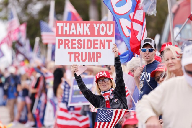 Trump Flies to Florida Supporters Greet Him Upon His Landing