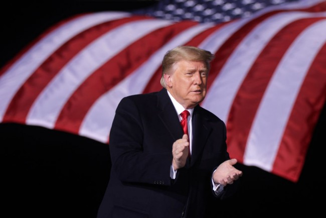 President Trump Holds Campaign Rally For GOP Senate Candidates Ahead Of Runoff Election