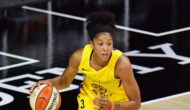 WNBA's Candace Parker Schools NBA Legend Shaquille O'Neal