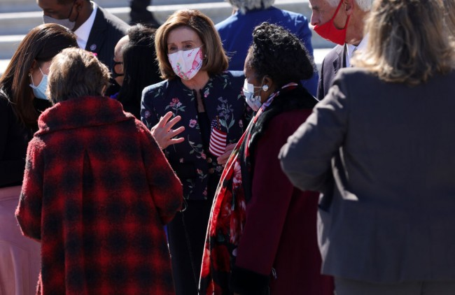Speaker Pelosi Delivers Remarks On For The People Act Outside Capitol Building
