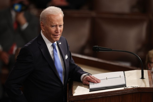 Did President Joe Biden Hint at Fourth Stimulus Check in First Joint Session of Congress?