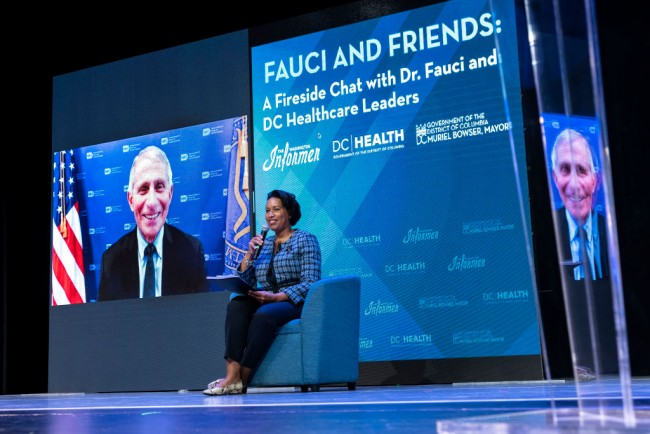 Dr. Anthony Fauci Holds Discussion With DC Mayor And DC Health Officials