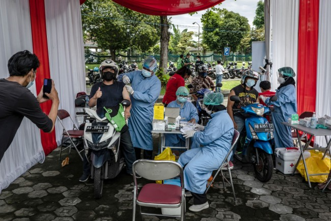 Mass Vaccination On Grounds Of Prambanan Temple