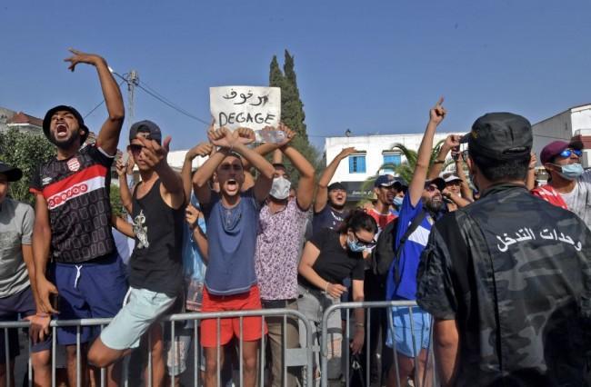 TUNISIA-POLITICS-GOVERNMENT-DEMO